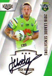 2016 NRL Elite League Sensations Signature #LS2 Josh Hodgson Raiders #123/130