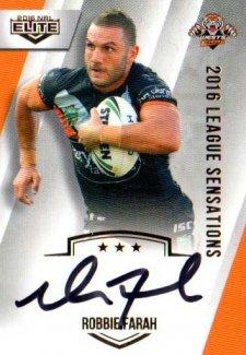 2016 NRL Elite League Sensations Signature #LS16 Robbie Farah Tigers #62/130