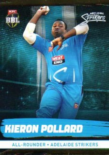2016/17 CA & BBL Cricket Gold Parallel #74 Kieron Pollard Adelaide Strikers