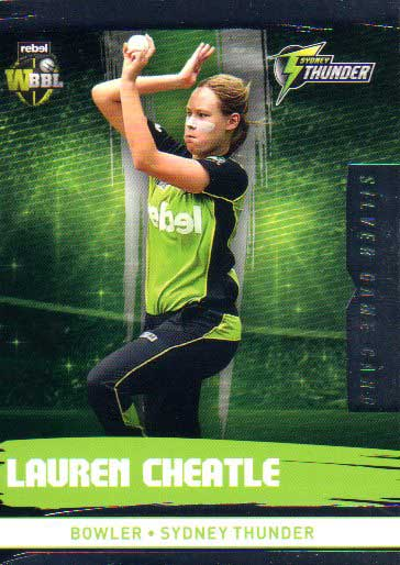 2016/17 CA & BBL Cricket Silver Parallel #198 Lauren Cheatle Sydney Thunder