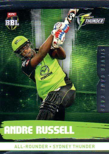 2016/17 CA & BBL Cricket Silver Parallel #194 Andre Russell Sydney Thunder
