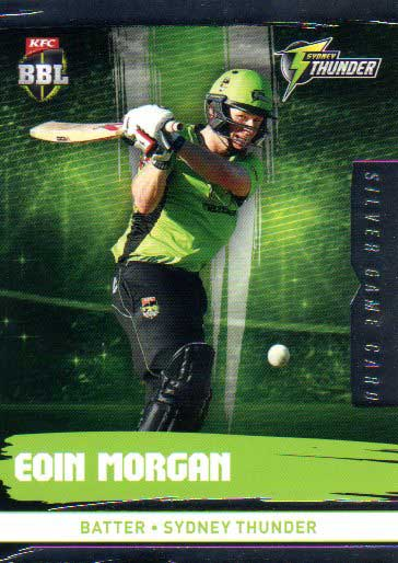 2016/17 CA & BBL Cricket Silver Parallel #191 Eoin Morgan Sydney Thunder