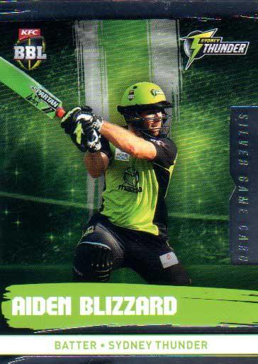 2016/17 CA & BBL Cricket Silver Parallel #185 Aiden Blizzard Sydney Thunder