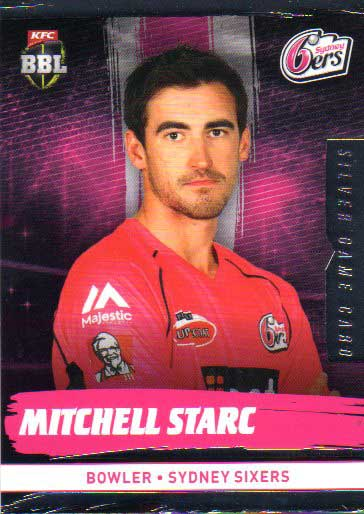 2016/17 CA & BBL Cricket Silver Parallel #179 Mitchell Starc Sydney Sixers