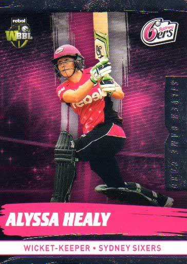 2016/17 CA & BBL Cricket Silver Parallel #180 Alyssa Healy Sydney Sixers