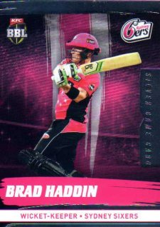 2016/17 CA & BBL Cricket Silver Parallel #173 Brad Haddin Sydney Sixers