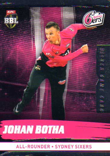 2016/17 CA & BBL Cricket Silver Parallel #170 Johan Botha Sydney Sixers