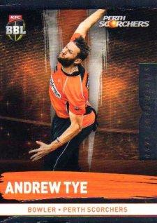 2016/17 CA & BBL Cricket Silver Parallel #161 Andrew Tye Perth Scorchers