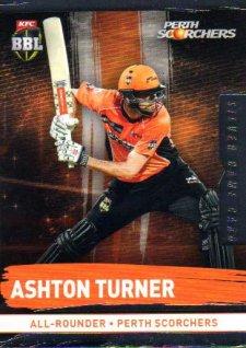 2016/17 CA & BBL Cricket Silver Parallel #160 Ashton Turner Perth Scorchers