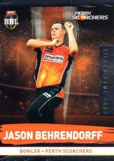 2016/17 CA & BBL Cricket Silver Parallel #152 Jason Behrendorff Perth Scorchers