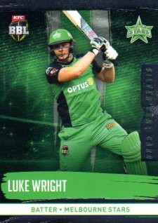2016/17 CA & BBL Cricket Silver Parallel #144 Luke Wright Melbourne Stars