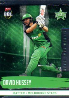 2016/17 CA & BBL Cricket Silver Parallel #138 David Hussey Melbourne Stars