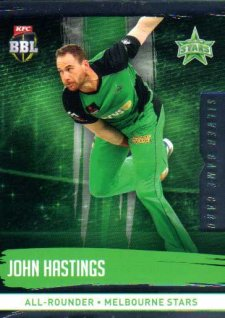 2016/17 CA & BBL Cricket Silver Parallel #137 John Hastings Melbourne Stars