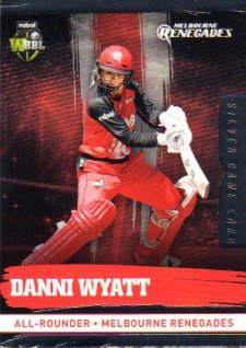 2016/17 CA & BBL Cricket Silver Parallel #132 Danni Wyatt Melbourne Renegades