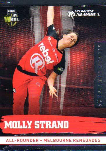 2016/17 CA & BBL Cricket Silver Parallel #131 Molly Strano Melbourne Renegades