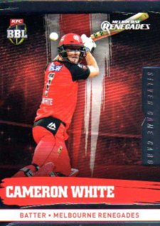 2016/17 CA & BBL Cricket Silver Parallel #128 Cameron White Melbourne Renegades