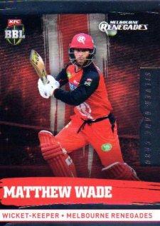 2016/17 CA & BBL Cricket Silver Parallel #127 Matthew Wade Melbourne Renegades