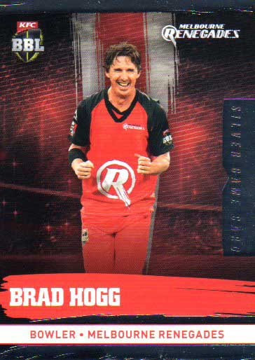 2016/17 CA & BBL Cricket Silver Parallel #122 Brad Hogg Melbourne Renegades