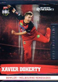 2016/17 CA & BBL Cricket Silver Parallel #118 Xavier Doherty Melbourne Renegades