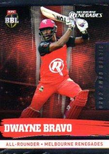 2016/17 CA & BBL Cricket Silver Parallel #117 Dwayne Bravo Melbourne Renegades