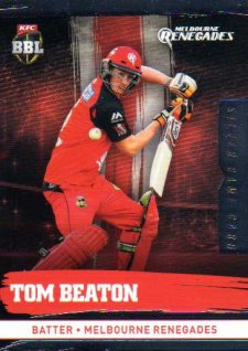 2016/17 CA & BBL Cricket Silver Parallel #116 Tom Beaton Melbourne Renegades