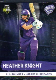 2016/17 CA & BBL Cricket Silver Parallel #114 Heather Knight Hobart Hurricanes