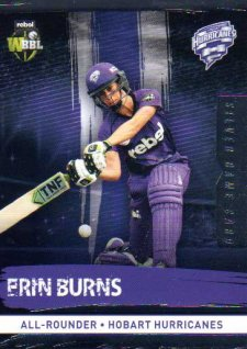 2016/17 CA & BBL Cricket Silver Parallel #112 Erin Burns Hobart Hurricanes