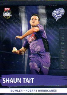 2016/17 CA & BBL Cricket Silver Parallel #110 Shaun Tait Hobart Hurricanes