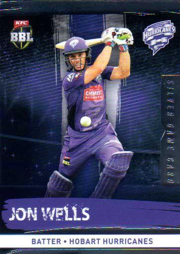 2016/17 CA & BBL Cricket Silver Parallel #111 Jon Wells Hobart Hurricanes
