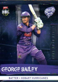 2016/17 CA & BBL Cricket Silver Parallel #99 George Bailey Hobart Hurricanes