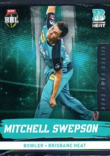 2016/17 CA & BBL Cricket Silver Parallel #94 Mitchell Swepson Brisbane Heat