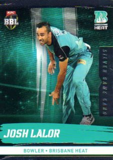 2016/17 CA & BBL Cricket Silver Parallel #87 Josh Lalor Brisbane Heat