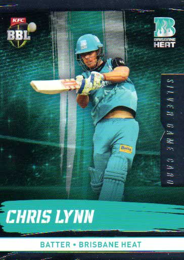 2016/17 CA & BBL Cricket Silver Parallel #88 Chris Lynn Brisbane Heat
