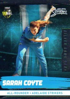 2016/17 CA & BBL Cricket Silver Parallel #78 Sarah Coyte Adelaide Strikers