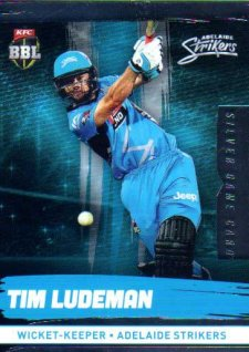 2016/17 CA & BBL Cricket Silver Parallel #72 Tim Ludeman Adelaide Strikers