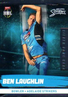 2016/17 CA & BBL Cricket Silver Parallel #70 Ben Laughlin Adelaide Strikers