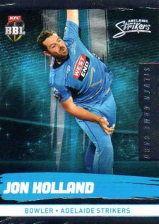 2016/17 CA & BBL Cricket Silver Parallel #69 Jon Holland Adelaide Strikers