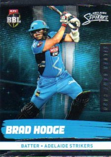 2016/17 CA & BBL Cricket Silver Parallel #68 Brad Hodge Adelaide Strikers