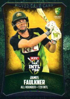 2016/17 CA & BBL Cricket Silver Parallel #51 James Faulkner Australian T20