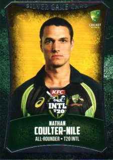 2016/17 CA & BBL Cricket Silver Parallel #50 Nathan Coulter-Nile Australian T20