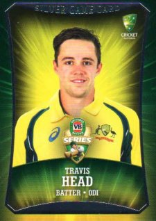 2016/17 CA & BBL Cricket Silver Parallel #39 Travis Head Australian ODI