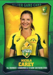 2016/17 CA & BBL Cricket Silver Parallel #19 Nicola Carey Southern Stars
