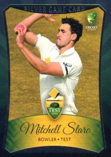 2016/17 CA & BBL Cricket Silver Parallel #14 Mitchell Starc Australian Test