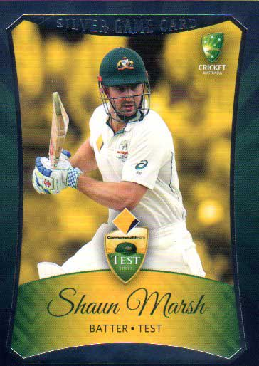 2016/17 CA & BBL Cricket Silver Parallel #7 Shaun Marsh Australian Test