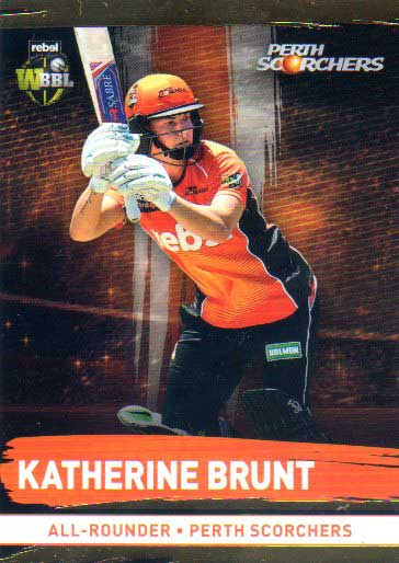 2016/17 CA & BBL Cricket Gold Parallel #165 Katherine Brunt Perth Scorchers