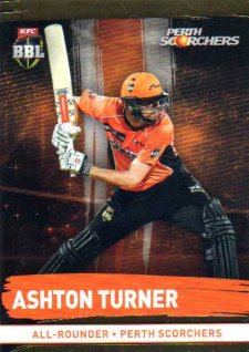 2016/17 CA & BBL Cricket Gold Parallel #160 Ashton Turner Perth Scorchers