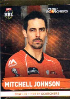 2016/17 CA & BBL Cricket Gold Parallel #155 Mitchell Johnson Perth Scorchers