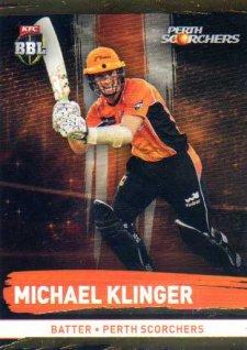 2016/17 CA & BBL Cricket Gold Parallel #156 Michael Klinger Perth Scorchers
