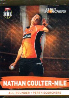 2016/17 CA & BBL Cricket Gold Parallel #154 Nathan Coulter-Nile Perth Scorchers