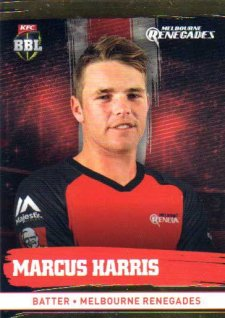 2016/17 CA & BBL Cricket Gold Parallel #121 Marcus Harris Melbourne Renegades